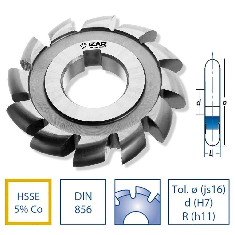 Fresas agujero hsse DIN856 convexa