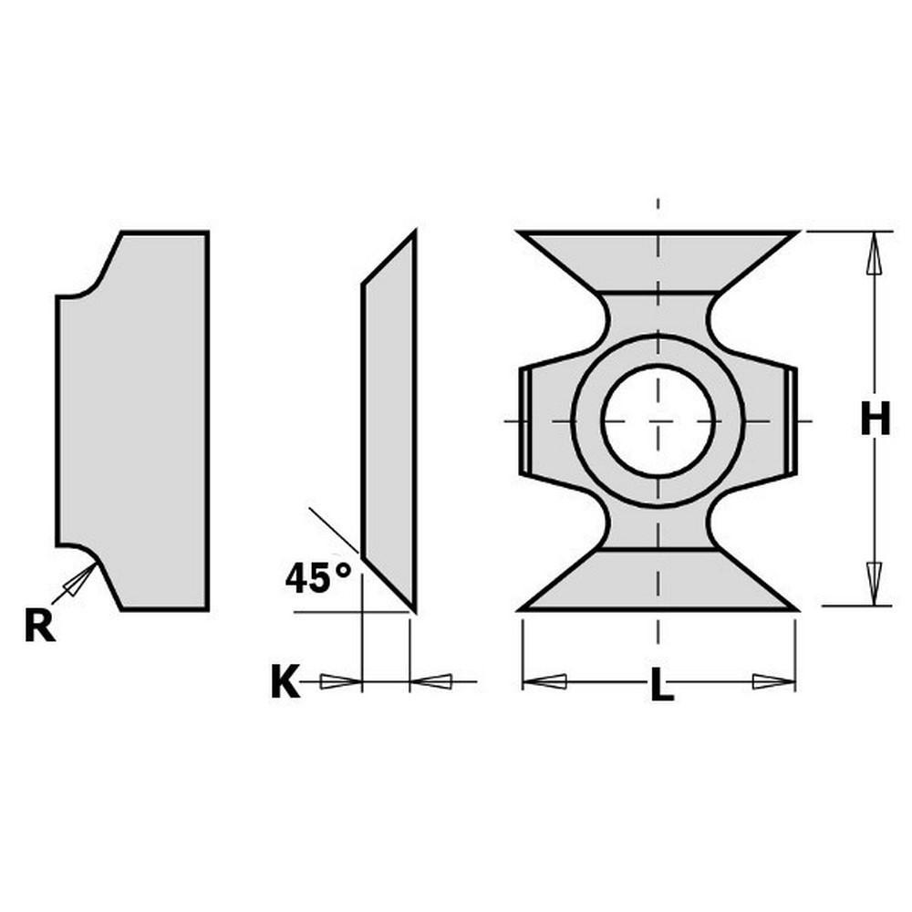 Cuchillas reversibles metal duro