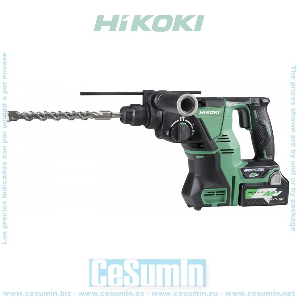 HIKOKI 51201256 - Martillo a batería SDS-Plus 36V Li-Ion con maletín
