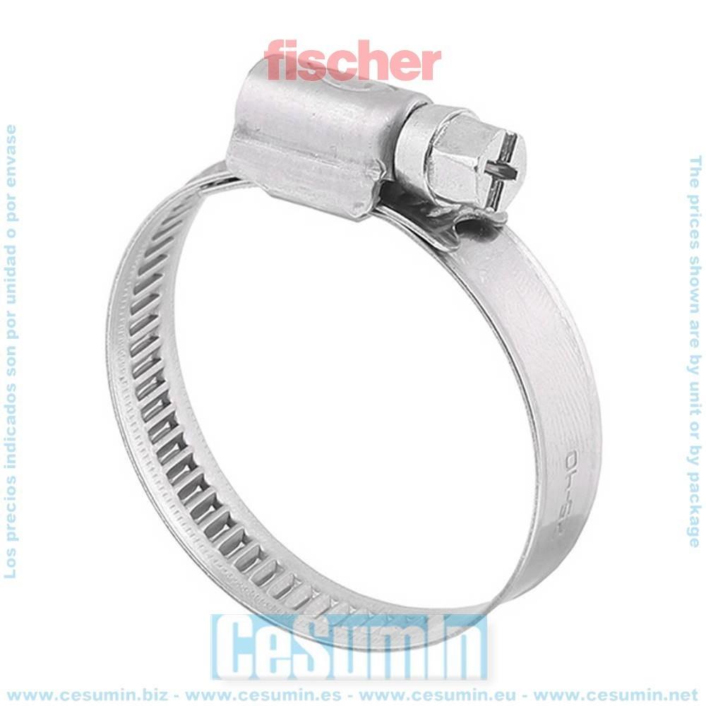 FISCHER 045525 25C Abrazadera sin-fin SGS 9 W2 50-70 Envase de 25 ud.