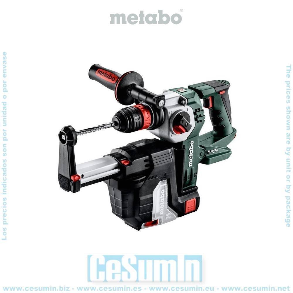 Metabo 600211900 Martillo ligero SDS Plus sin escob a bateria 18V Li-Ion KHA 18 LTX BL 24 Quick + ISA 18 LTX Maletín MetaLoc
